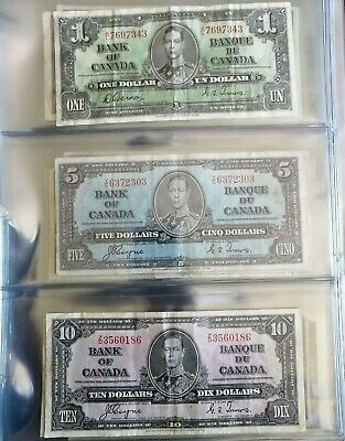 Canadian bank notes collection