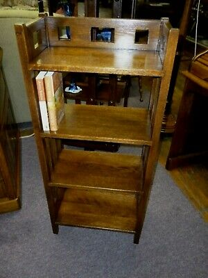 Antique Oak Bookshelf Bookcase mission style refinished 1900's