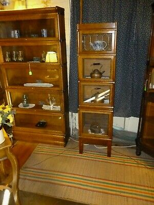 Stacking Bookcase Antique Oak Barrister 1/2 size refinished Mission style