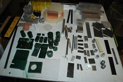 Machinist lot of raw stock for projects, metal, plastics, 8020 various shapes