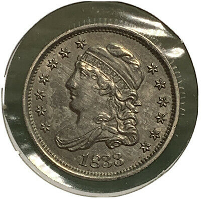 1833 Silver Capped Bust Half Dime 5¢ Cent US Coin SI46