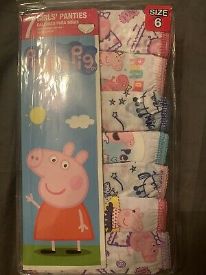 Peppa Pig Girls Underwear 7 Pack Size 6