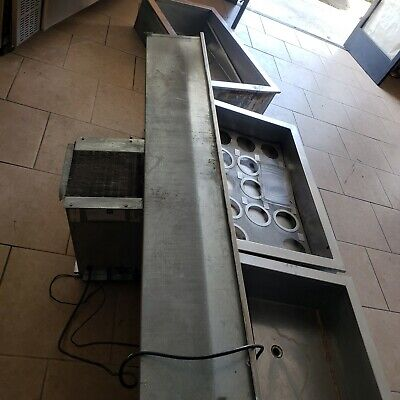 Delfield five pan drop In refrigerated  cold  food well stainless steel