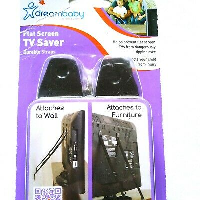 DreamBaby Flat Screen TV Saver 2 Sets - Child Safety Anti Tip Over Straps
