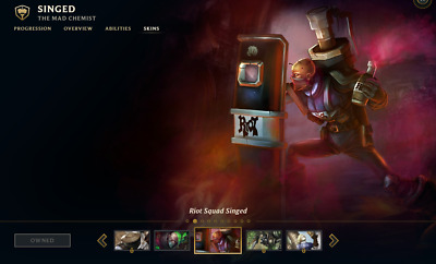 (NA) Riot Squad Singed | League of Legends LOL Account | 95 Champs | 41 Skins
