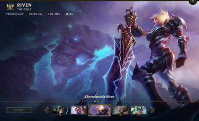 (NA) Championship Riven 2012 | League of Legends Account | 43 Champs | 61 Skins