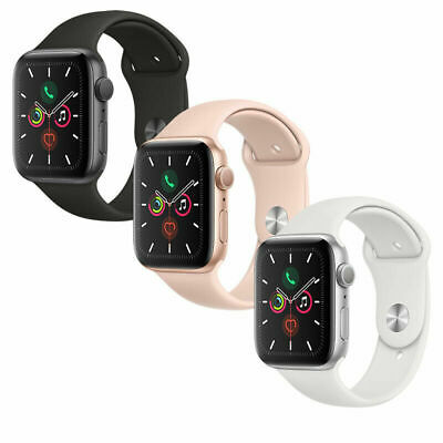 Apple Watch Series 5 GPS Gold/Gray/Silver 40mm/44mm Pink/Black/White Sport Band