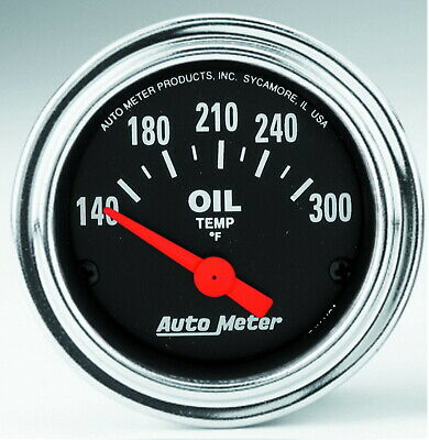 2543 Autometer 2543 Traditional Chrome Electric Oil Temperature Gauge