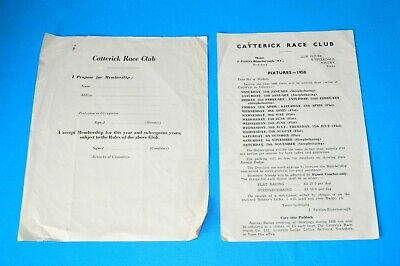 1958 Catterick Race Club Racecourse Fixtures For Members & Member Application