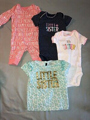 """""""Little Sister"""" Baby Clothes (Lot Of 8)"""