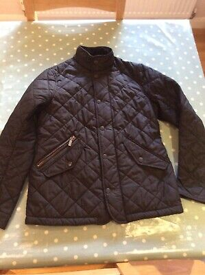 girls' black barbour quilted jacket size 10 years