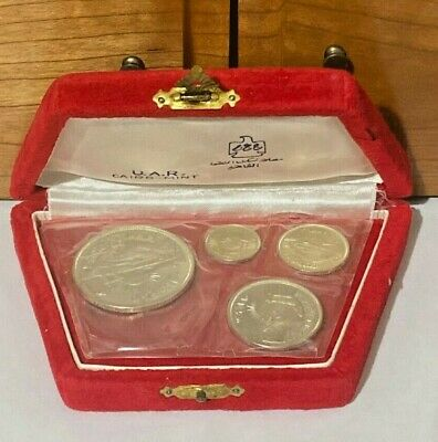 Egypt, 1964 Silver Proof Complete Set With Original Box, Diversion Of The Nile