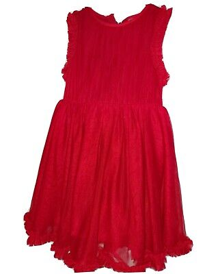 Next Toddler Girl 3-4 Years Old Red Dress In Excellent Condition