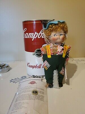 1994 Campbell's Soup Kids Porcelain Doll with COA  MINT