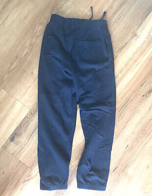 Girls M&S Full Length Running Joggers Age 8 Navy Blue  128 Cm vgc