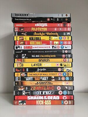 JOB LOT Bundle x20 DVDS Tarentino Scorsese Apocalypse Now Shawshank Pulp Fiction