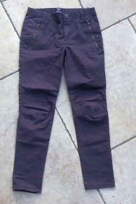 Girls GAP Age 7 Skinny Fit charcoal Grey/ Brown  Jeans Vgc trousers