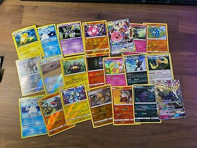 Pokemon Card Lot 45 OFFICIAL TCG Cards Rares and Holos