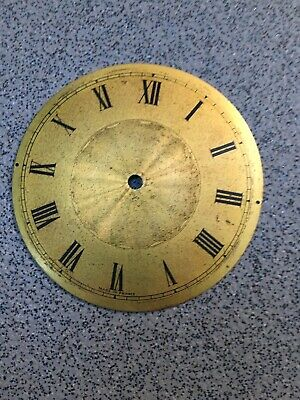 Antique French Clock Brass Dial Face Engine Turned (Q)