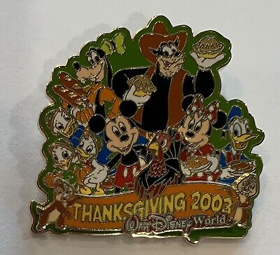 Disney World Thanksgiving 2003 Pete Nephews Chip Dale Mickey Minnie Donald Pin