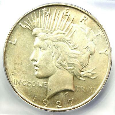 1927-D Peace Silver Dollar $1 - ICG MS60 Detail - Rare Date MS UNC Coin!