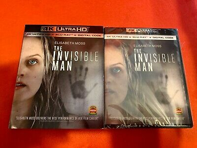 The Invisible Man (4K Ultra HD Blu-Ray UHD + Blu-Ray) w/ slipcover *NO DIGITAL*