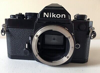 Nikon FM 35mm SLR Black Body - NICE!