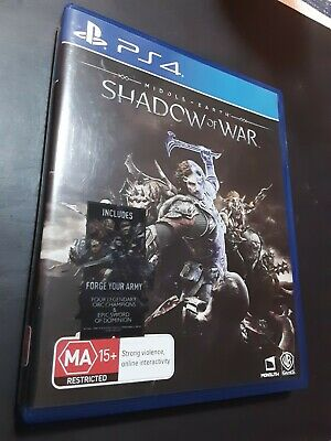 Middle Earth Shadow of War PS4 Game Sony PlayStation 4 - Very Good