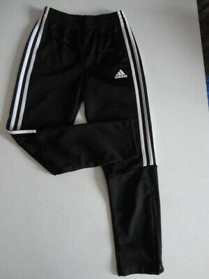 Adidas Black Slim Fit Tracksuit Bottoms Pants Footbal Boys/Girls 9-10 Years