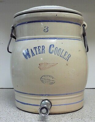 Red Wing 3 Gallon Water Cooler Crock with Lid, Handles, Spigot