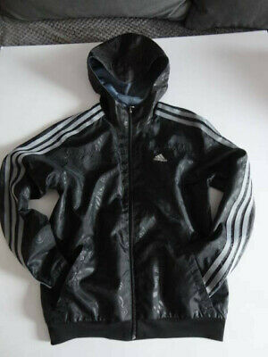Adidas Lightweight Jacket Hoody Zip Front Revisible  Boys/Girls 11-12 Years 152