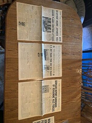 WWll Authentic News Papers