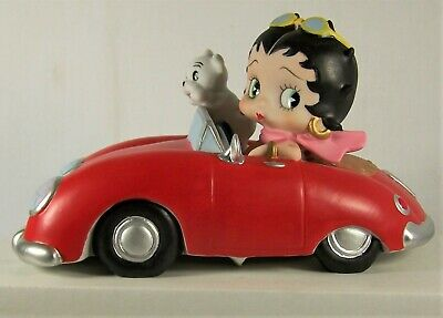 Betty Boop, Red Car, Musical, Figurine by San Francisco Music Box - 6in x 4in!