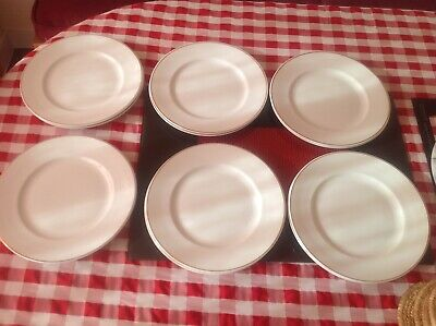 """Mayfair Fine Bone China 12 gold edged Dinner plates 10.5""""/27cm made in England"""