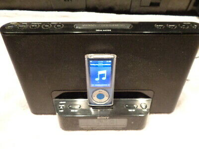 Sony iPhone iPod Personal Audio Dock System Alarm Clock Radio (No Remote)