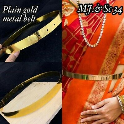 Plain Gold Metal Hip Belt  Now Available On Meera's Fashion