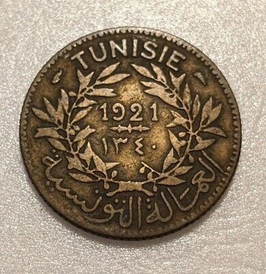 Tunisia 1 Franc 1921 KM 247 Chambers of Commerce Coinage 20Q
