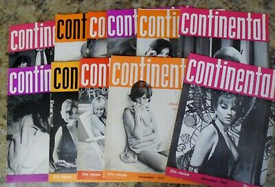 Eleven Issues of Continental Film Review Magazine from 1965