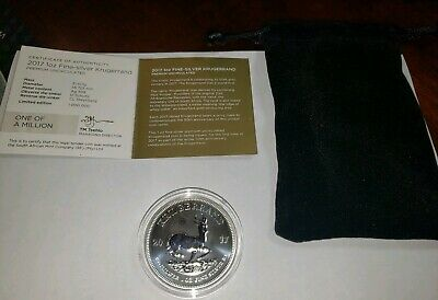 2017 Premium Uncirculated 1 Oz Silver Krugerrand With Bag & Coa!