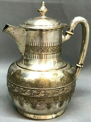 Antique Tiffany & Co 2-Pint 191 Silver Soldered Pitcher c.1870s Creamer Tea 2893