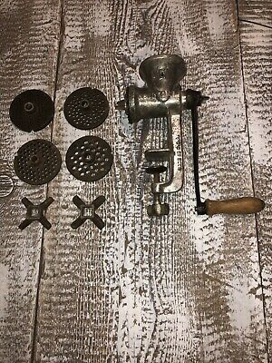 VINTAGE KEYSTONE MADE IN USA #5 MEAT GRINDER BOYERTOWN PA. Numerous Attachments