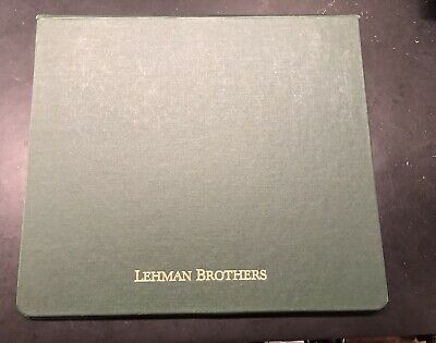 Vintage Lehman Brothers  Presentation Book and Memo Pad