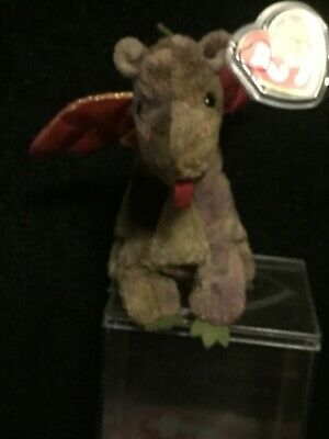 TY Beanie Baby Scorch the Dragon with Tag 1998, Excellent Condition