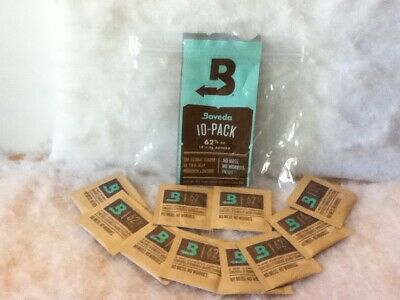 10-Pack Boveda RH 62% 8 Gram Individually Wrapped