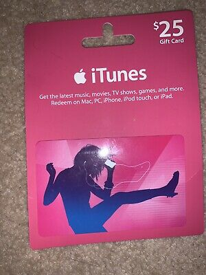 $25 Apple App Store & iTunes Gift Card NO EXPIRATION