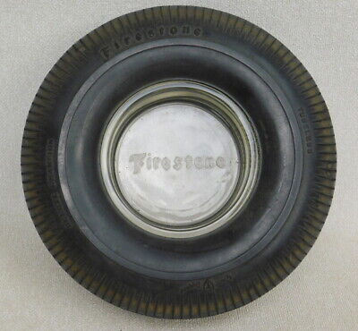 Vintage FIRESTONE Deluxe Champion Gum Dipped Tire Ashtray