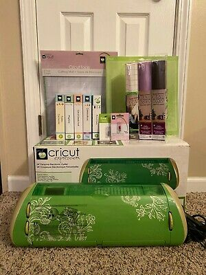 LIME GREEN CRICUT EXPRESSION MACHINE BUNDLE - Manual+DVD+Lots of Extras!