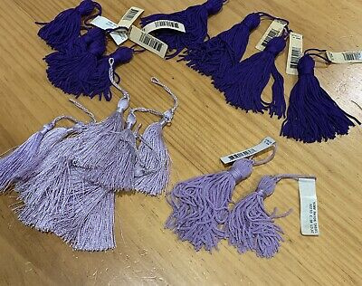 Purple Tassels- Assorted Lengths . Home Furnishing . cushions
