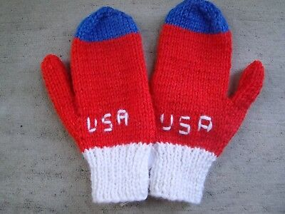Hand knitted mittens Size childrens large