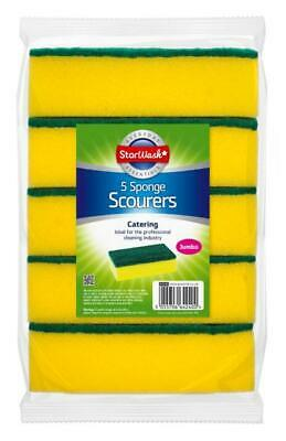 30 or 60 Starwash JUMBO Catering Sponge Scourers- Professional Cleaning Supplies
